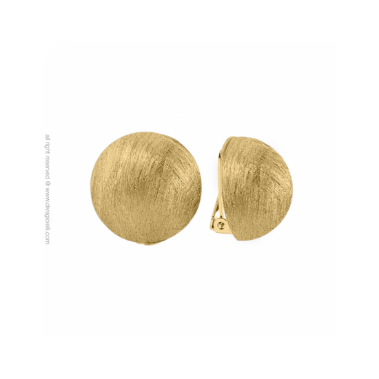16988GM - Earrings - Luce. clip. ø22. gold scratched - 100001