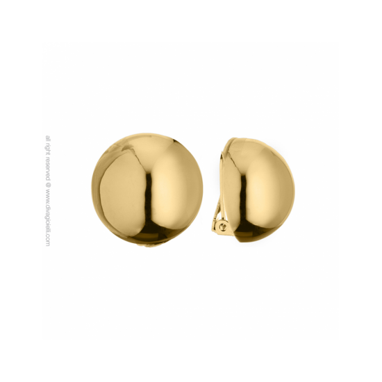 16988GP - Earrings - Luce. clip. ø22. gold poly - 100002
