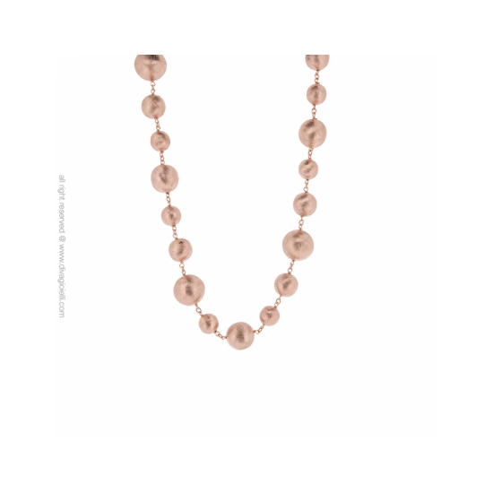 17289RM - Necklace - Luce. rosé gold scratched - 100008